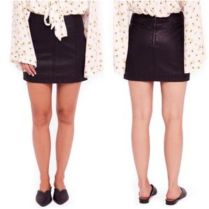 Free People Modern Femme Faux-Leather Mini Skirt 6